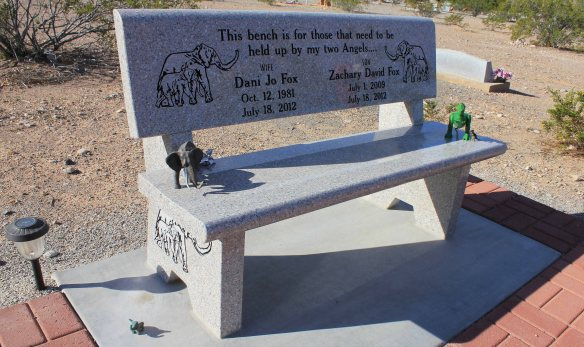 It's rare that a monument brings me to tears. This one did.  Later, an internet search revealed that this mother and son had passed in a tragic traffic accident on their way to Las Vegas. It's clear they are missed dearly.