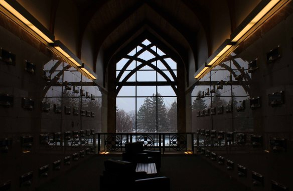 Inside the Christ Our Light Mausoleum. Brand new, we estimated between 100 and 200 spots were occupied or had been spoken for. How long will it take to fill this place up?