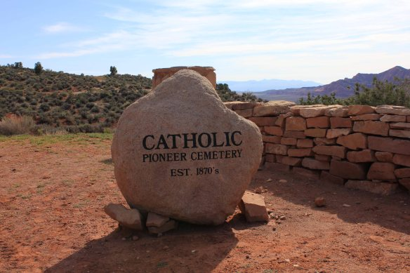 The Catholic Pioneer Cemetery in the ghost town of Silver Reef, Utah.