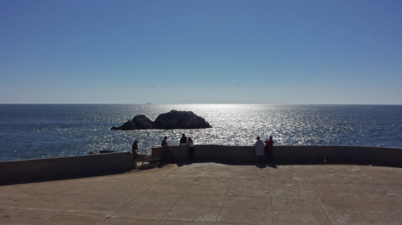 The Sutro Baths Ruins in San Francisco, CA. This is where Uncle Victor and Harold encounter Maude protesting for peace.