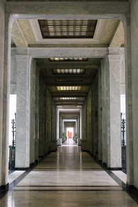 Inside the mausoleum.