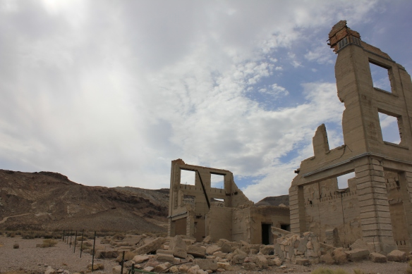 First, let's warm up with some photos of some ruins and abandoned buildings from the ghost town of Rhyolite, NV that I visited on my way to Tonopah.