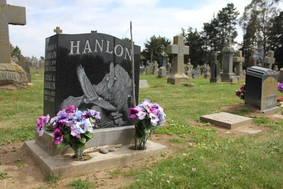 The Hanlon grave at Holy Cross